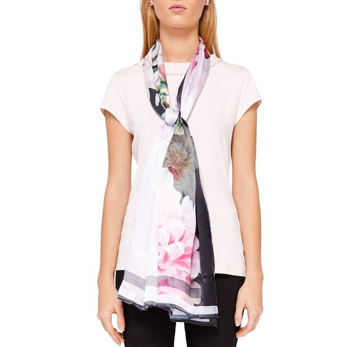 TED BAKER Padina Painted Posie Long Scarf