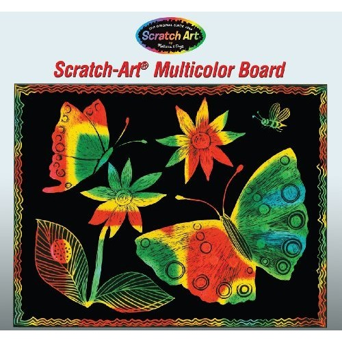 Melissa & Doug Scratch Art Multicolor Boards - 30 Black-Coated Multicolor Boards [1]
