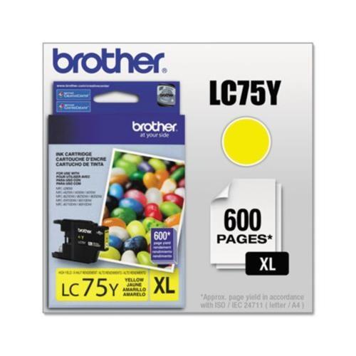 Brother LC75Y LC-75Y Innobella High-Yield Ink BRTLC75Y