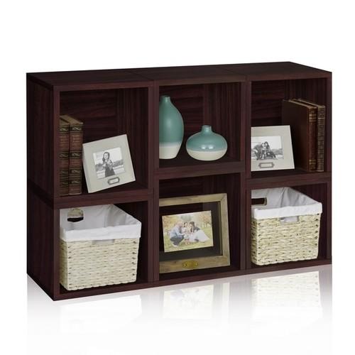 Iris Eco Stackable Modular Storage Cube Bookcase by Way Basics LIFETIME GUARANTEE [Finish : White]