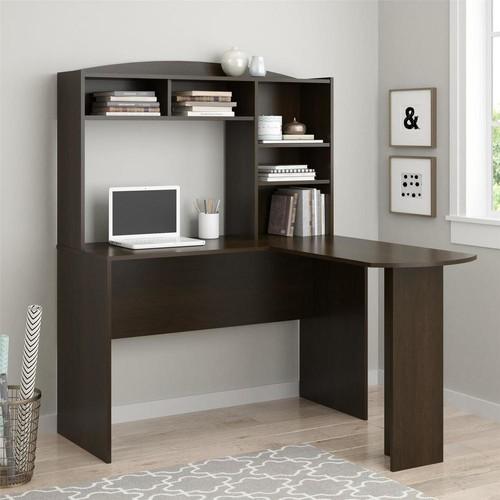 Altra Furniture Sutton Espresso Desk with Hutch