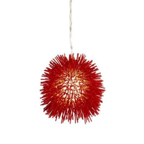 Varaluz Urchin 1-Light Super Red Mini Pendant