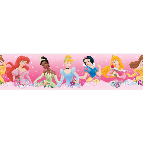 Disney Princess ''Dream from the Heart'' Peel & Stick Border Wall Decal