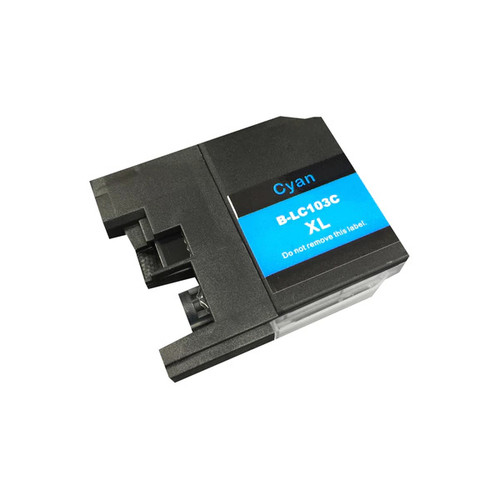 Think Crucial Cyan Replacement Toner Ink Cartridge for Brother LC-103XL Printers