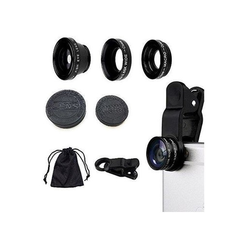 Camera Lens Kit Super Wide Angle Lens 180 Fisheye Lens & 10X Macro Lens Clip 3 in 1 Cell Phone Wide Lens for iPhone 8, 7, 6s, 6, 5s & Samsung Fits On All Smartphones By Lens Is Us