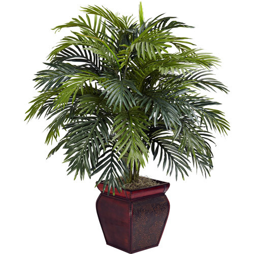 Areca with Decorative Planter Silk Plant
