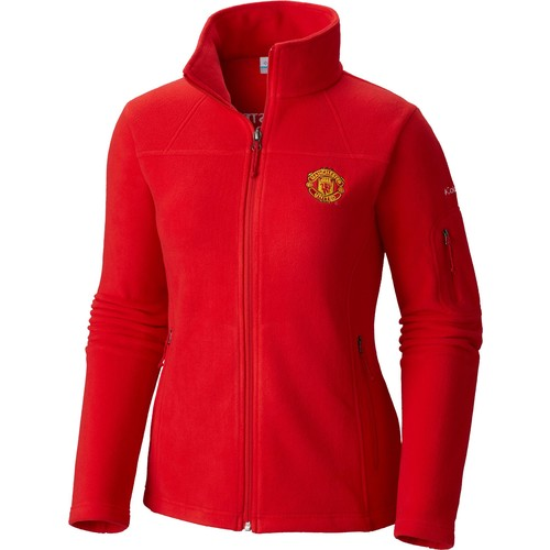 Columbia Women's Manchester United Fast Trek II Full Zip Red Fleece Jacket