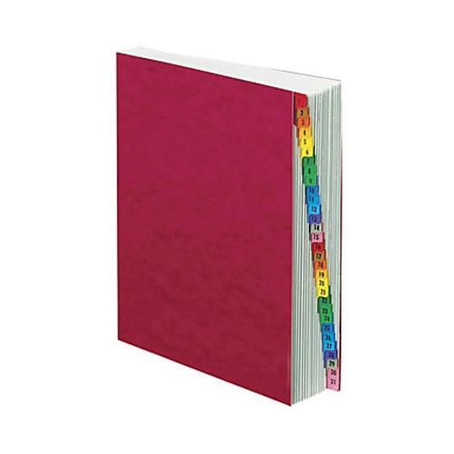 Pendaflex Pressguard Exp 1-31 Index Desk File - 31 x Divider(s) - Printed Tab(s) - Digit - 1-31 - Letter - 8 1/2