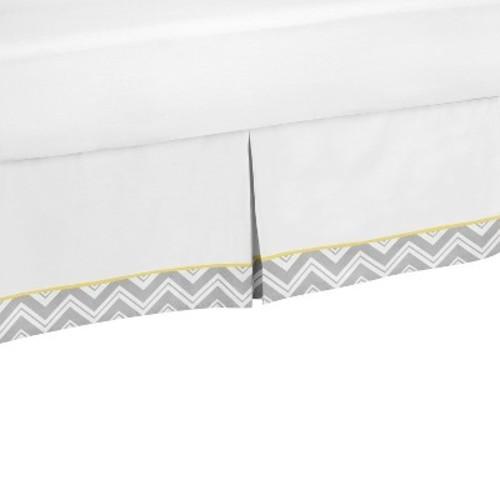 Sweet Jojo Designs Yellow and Gray Zig Zag Toddler Bed Skirt