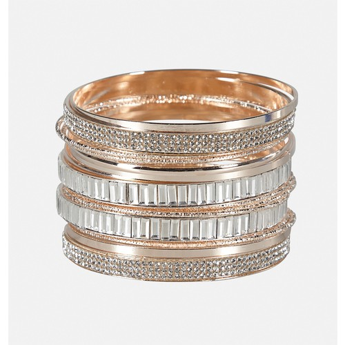 Textured Stone Bangle Set