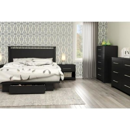 South Shore Primo Pure Black Full/Queen Headboard