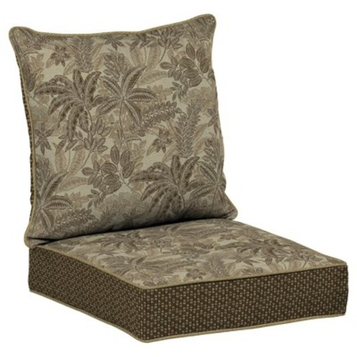 Palmetto Mocha 2pc Outdoor Deep Seat Cushion Set - Tan - Bombay Outdoors