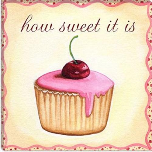 iCanvas 'Cherry Cupcake' by Jennifer Nilson Graphic Art on Canvas; 26'' H x 26'' W x 0.75'' D