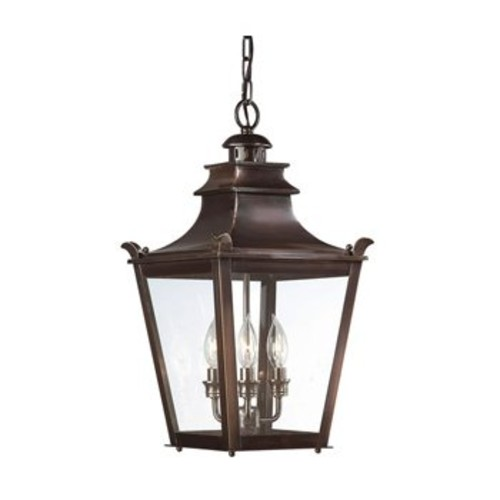 Dorchester Outdoor Pendant [Glass Color : Clear; Finish : English Bronze]