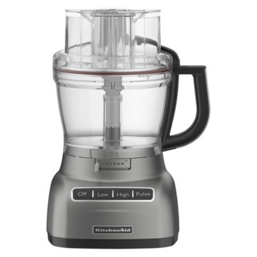 KitchenAid KFP0922CU 9-Cup Food Processor with Exact Slice System - Contour Silver [Contour Silver]