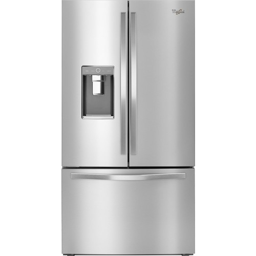 Whirlpool - 31 Cu. Ft. French Door Refrigerator - Monochromatic stainless steel