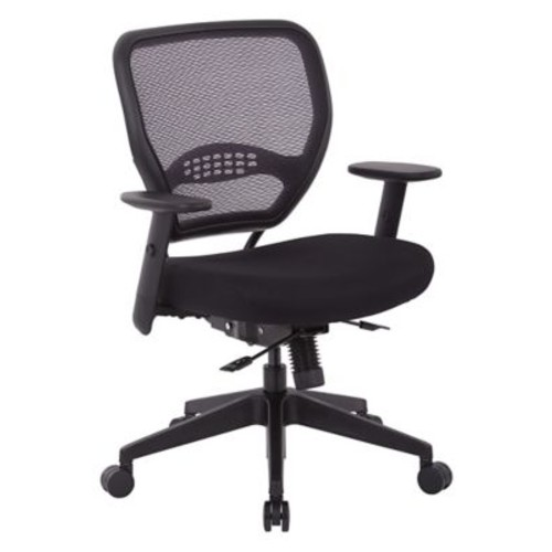 Office Star SPACE Seating Padded Mesh Fabric Seat and Mesh Back Managers Chair, Black (5700SL)