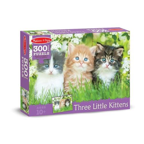 Melissa & Doug Three Little Kittens Cardboard Jigsaw Puzzle - 300 piece