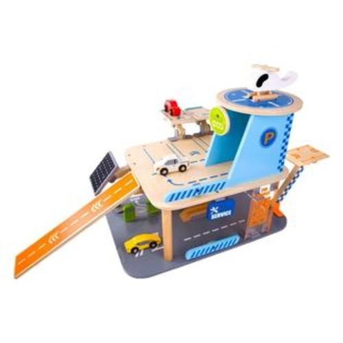 Classic World Toys Wood Green Garage Playset