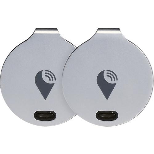 TrackR - bravo Item Trackers (2-Pack) - Brushed Aluminum
