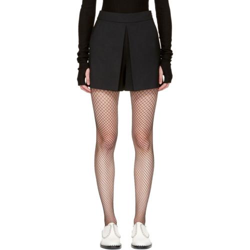 ALEXANDER WANG Black Fold Front Shorts