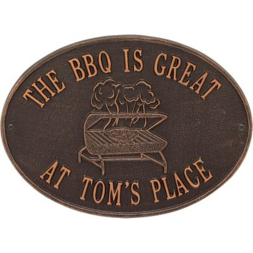 Whitehall Personalized Grill Plaque