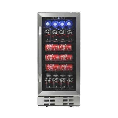 Air - 96-Can Beverage Cooler - Stainless steel
