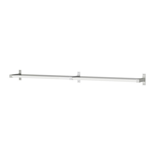 EKBY MOSSBY / EKBY BJRNUM Wall shelf, stainless steel, aluminum