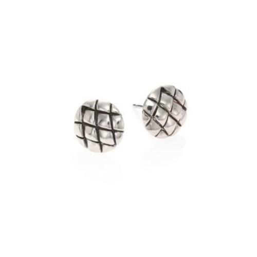 Legends Cobra Sterling Silver Stud Earrings