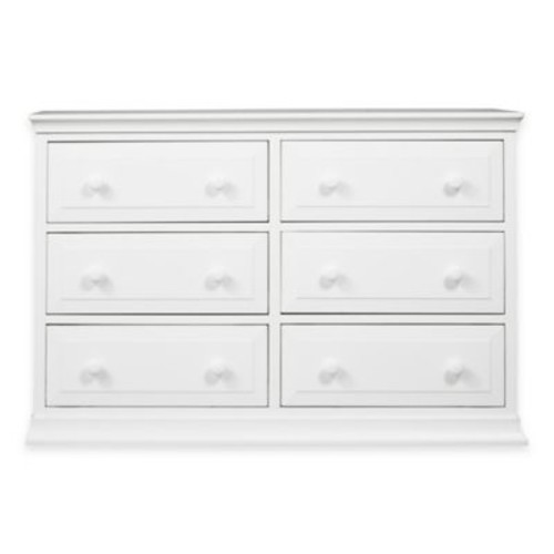 DaVinci Signature 6-Drawer Double Dresser in White