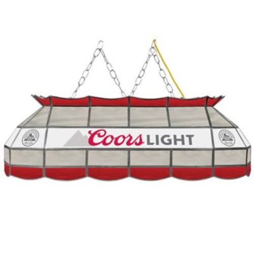 Coors 3-Light Stained Glass Billiard Lamp