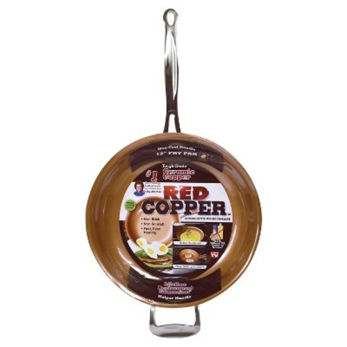 As Seen on TV Red Copper Frying Pan 12