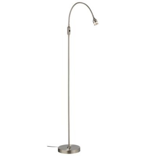 Adesso Prospect 56 in. Satin Steel LED Floor Lamp