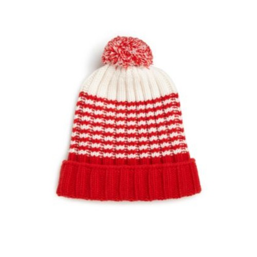GUCCI Knit Wool Pom-Pom Hat