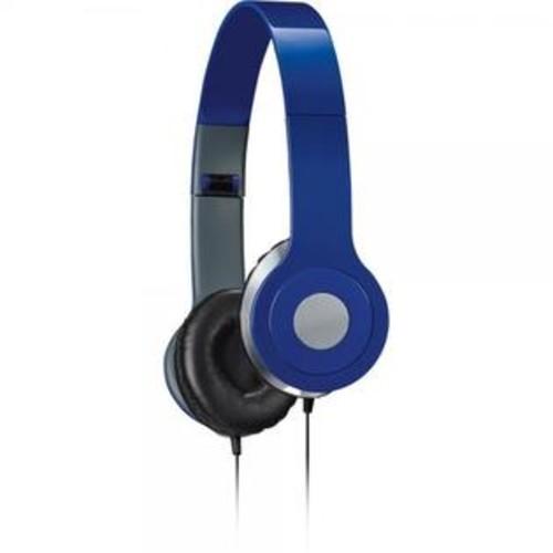 iLive iAH54BU Over-the-Ear DJ Headphones, Blue