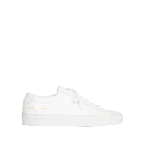 Common Projects Achilles Low-Top White Patent Leather Sneakers