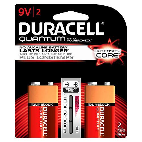 Duracell Quantum 9 Volt Size Battery - 2 Pack