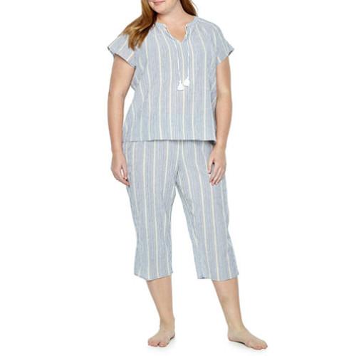 Liz Claiborne Capri Pajama Set Plus JCPenney
