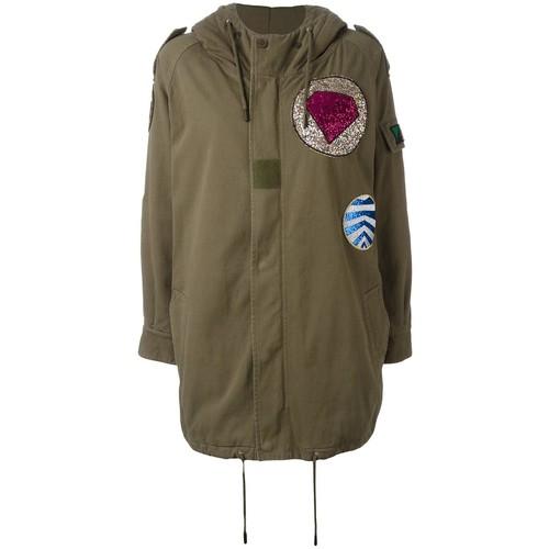 SAINT LAURENT Military Parka Patch Coat
