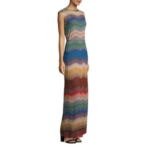 MISSONI Ombre Wave Knit Gown