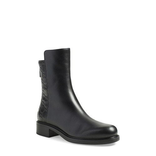GUCCI 'Liza' Logo Embossed Ankle Boot