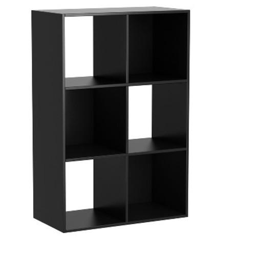 6 - Cube Organizer - Black - Homestar