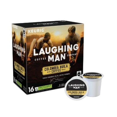 Laughing Man Coffee Colombia Huila Keurig K-Cup Pods - 16ct/6.4oz