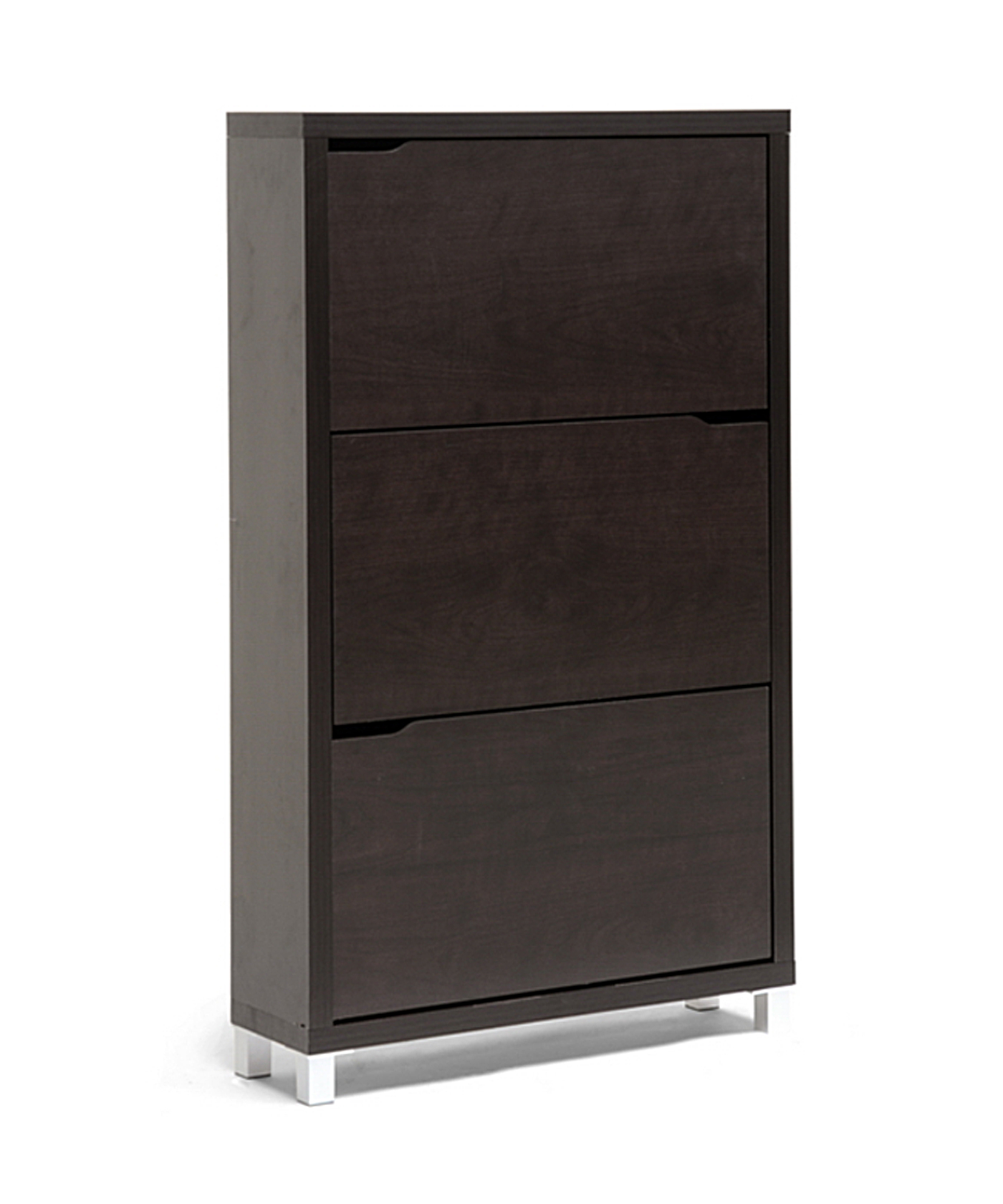 Baxton Studio Simms Shoe Cabinet - Dark Brown