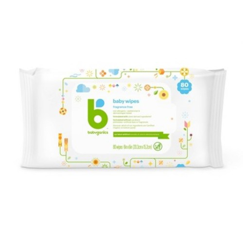 Babyganics Face, Hand & Baby Wipes, Fragrance Free, 300 Count (Contains Three 100-Count Packs), Packaging May Vary