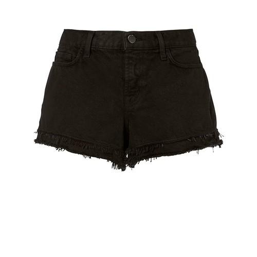 J BRAND Sachi Frayed Black Shorts