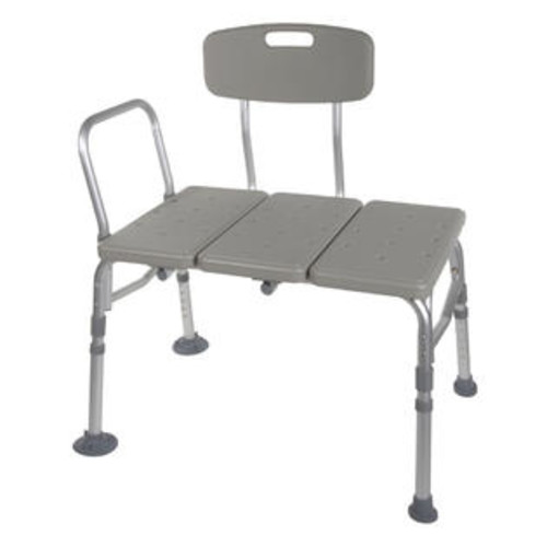 Drive Medical Plastic Transfer Bench with Adjustable Backrest Model 12011kd-1
