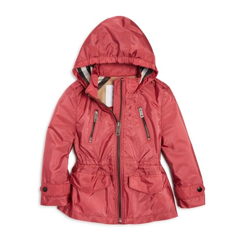 BURBERRY Girls' Halle Rain Jacket - Sizes 4-14