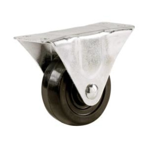 4 in. Soft Rubber Rigid Caster with 225 lb. Load Rating