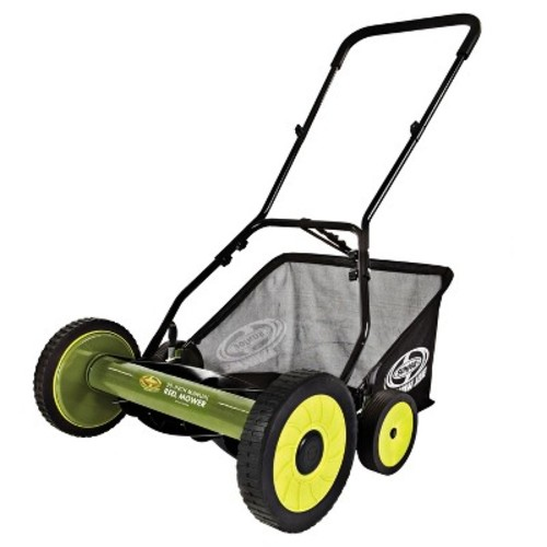 Sun Joe 20 Inch Manual Reel Mower with Grass Catcher